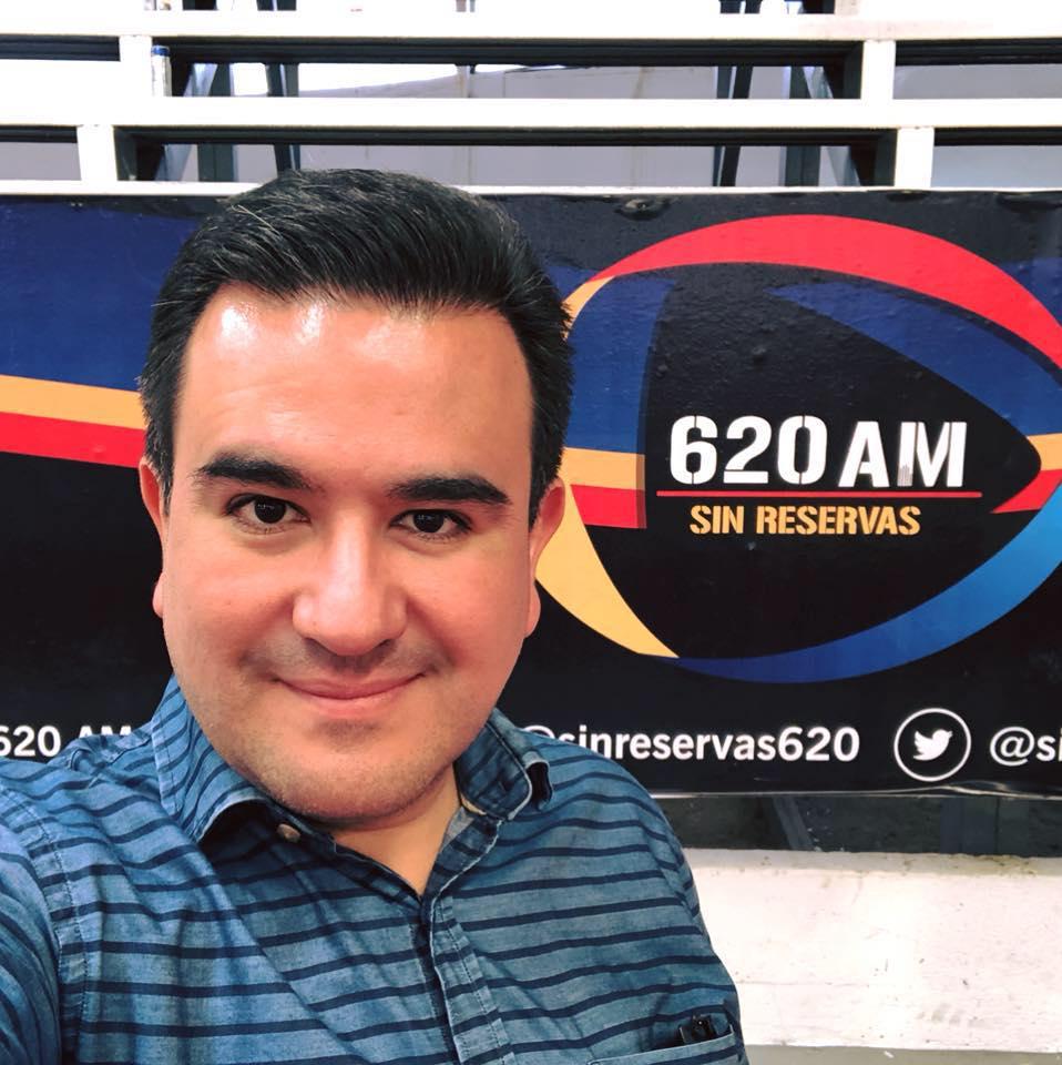 Periodista tabsqueño, Juan Carlos Huerta / Foto: Novedades de Tabasco