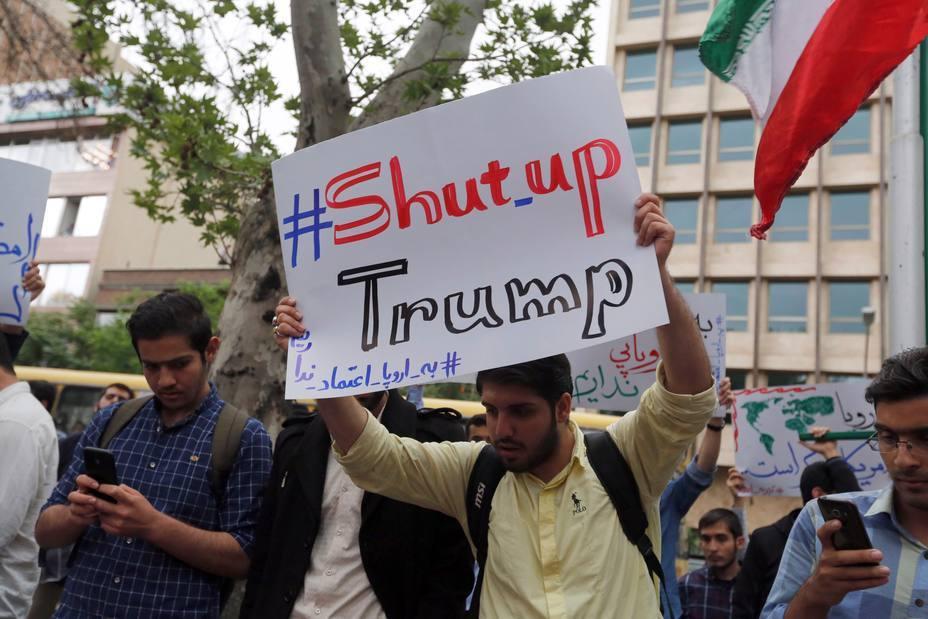 Decenas de iraníes participan en una protesta contra Estados Unidos | EFE