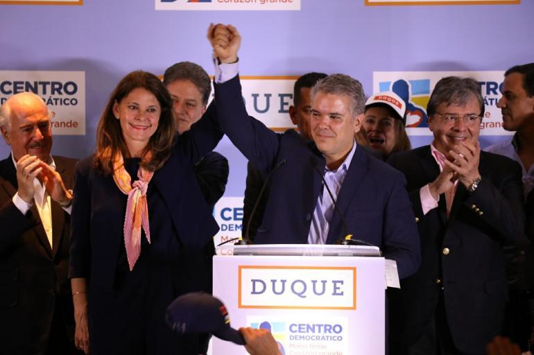 Las primeras palabras de Duque tras ganar las elecciones en Colombia