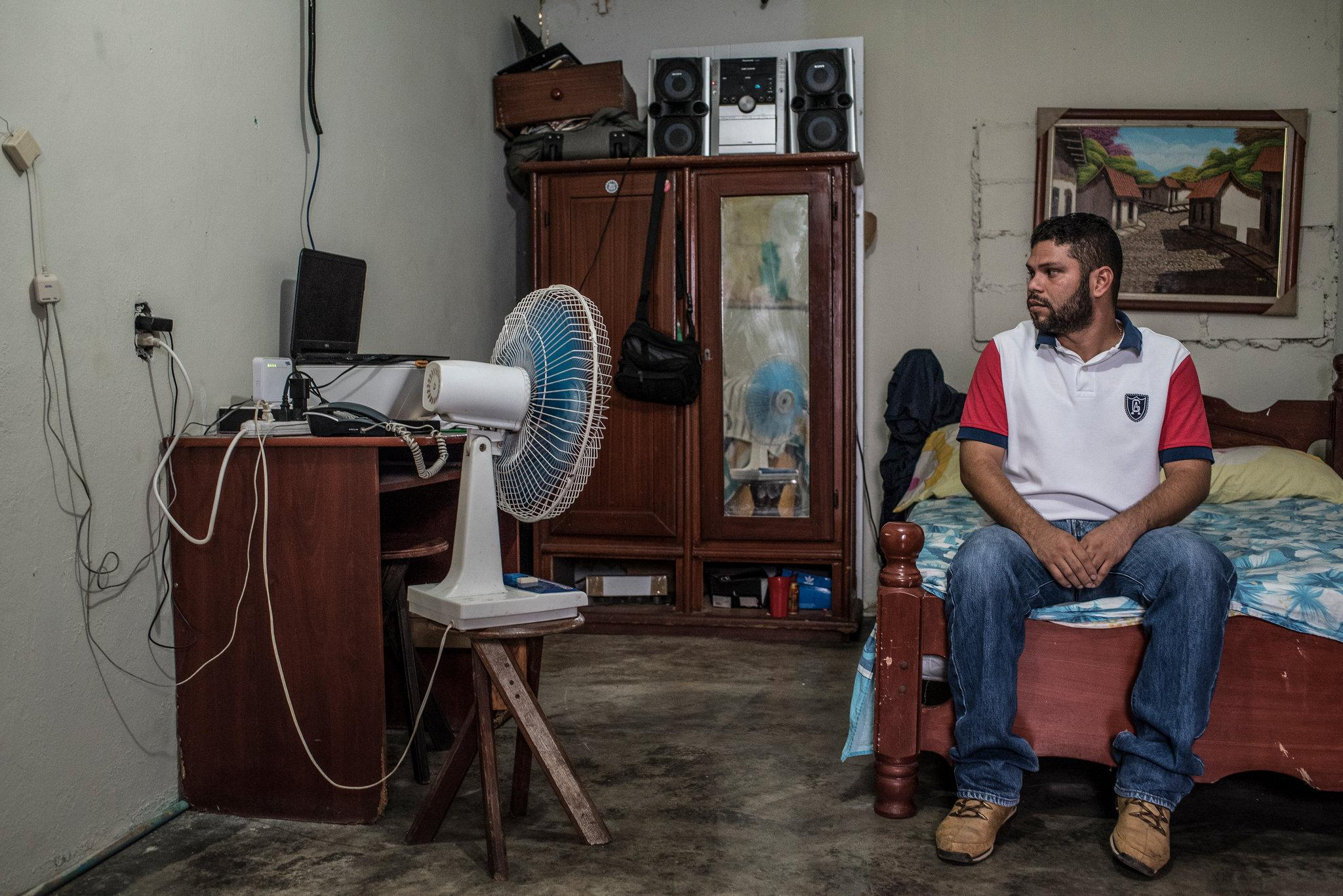 Junior Martínez, 28, who has worked in Venezuela's oil industry for eight years, is now planning to leave the country to find a job.CreditThe New York Times