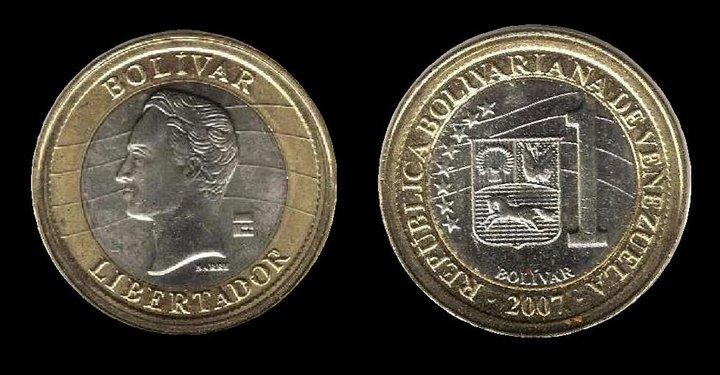 Estafan en España haciendo pasar moneda de 1 bolívar por la del euro