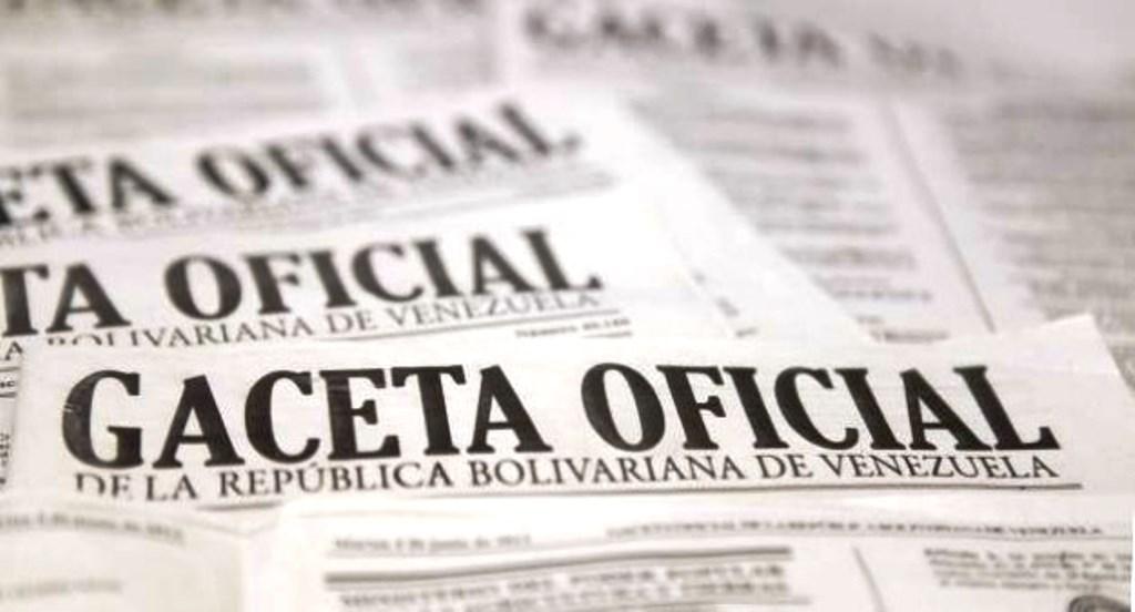 Foto cortesía de Gaceta Oficial