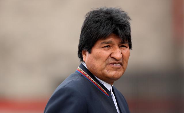 CORREGIR TÍTULO (BOG11-BOG16):Presidente de Bolivia llega a Colombia para investidura de Iván Duque*** BOG211. BOGOTÁ (COLOMBIA), 07/08/2018.- El presidente de Bolivia, Evo Morales, llega hoy, martes 7 de agosto de 2018, a la base militar de Catam en Bogotá (Colombia). Evo se encuentra en el país para asistir a la investidura del presidente electo de Colombia, Iván Duque. EFE/Leonardo Muñoz