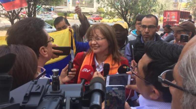 """Embajadora venezolana expulsada de Ecuador regresa con emigrantes en plan """"Vuelta a la Patria"""""""